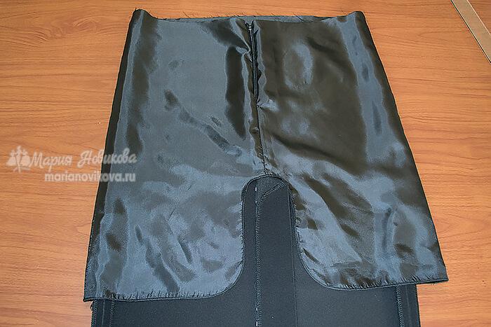 Юбка со шлицей на подкладке