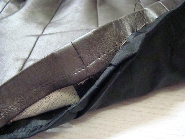 Зашивание низа потайными стежками