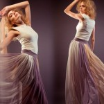 Мастер-класс: пошив юбки в складку из шифона на подкладе