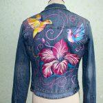 Роспись джинсовки акриловыми красками для начинающих