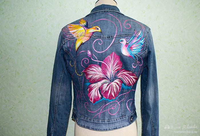 Ручная роспись (одежды) джинсовки