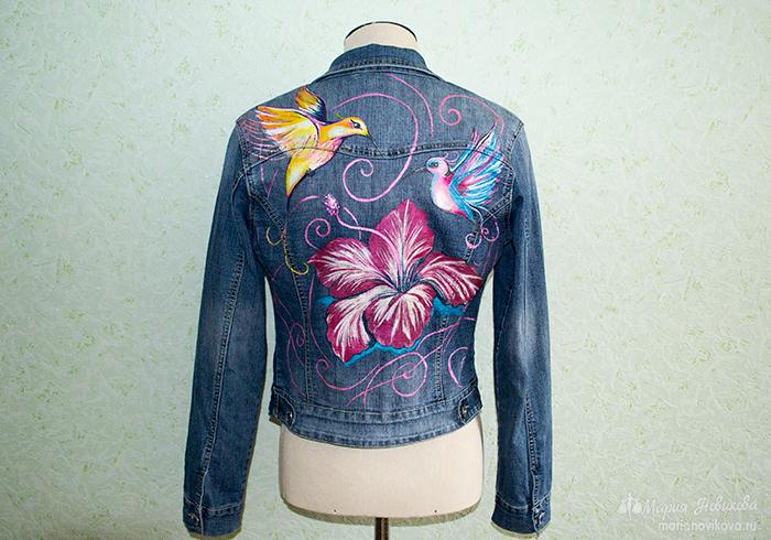 Уникальная роспись джинсовки