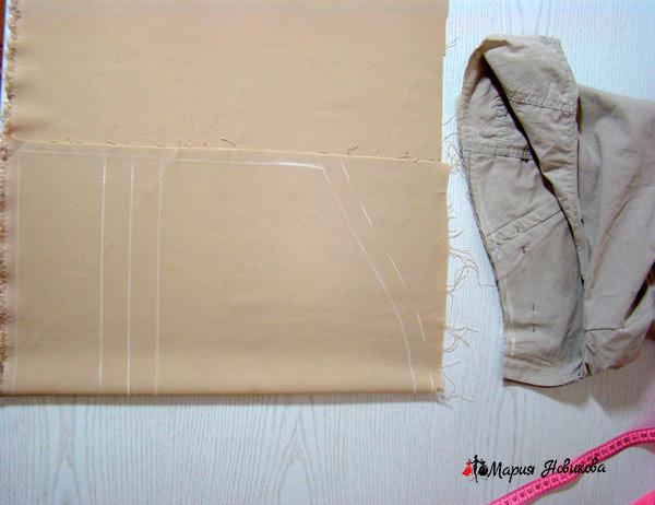 Конструкция вставки на ткани