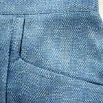 Обработка бокового кармана обтачкой и отрезным бочком