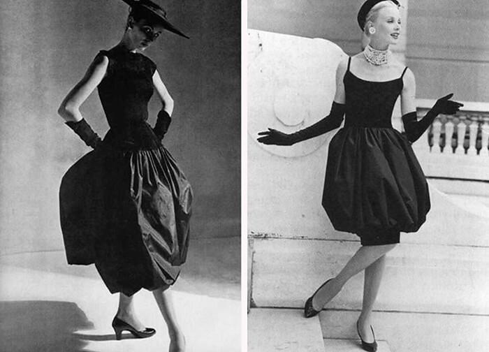 Старинные фото платья-баллон