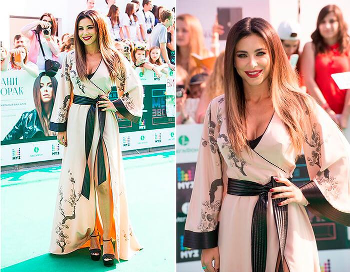 Современное платье-кимоно
