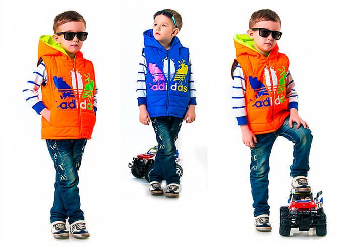 Стёганые жилеты для мальчиков