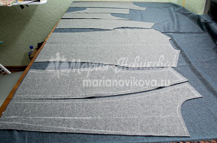 Раскроить детали из клеевой ткани