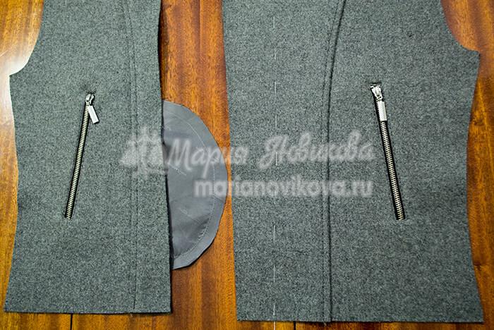 Прорезные карманы на молнии в куртке