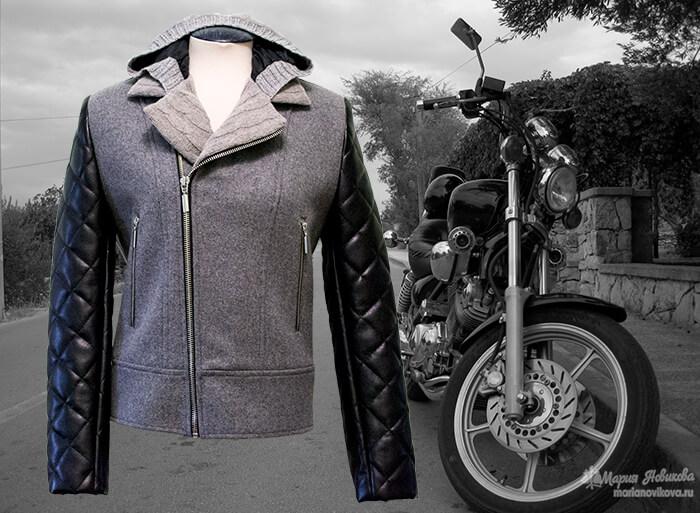 Куртка для байкера как сшить