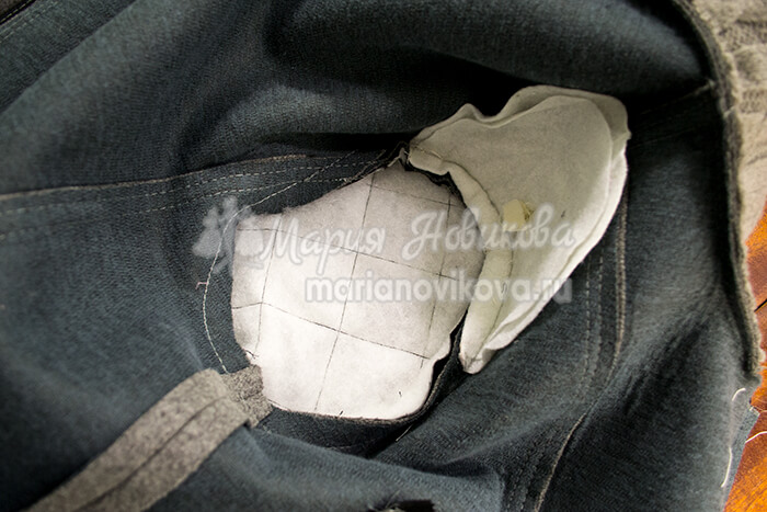 Плечевая накладка по окату рукава