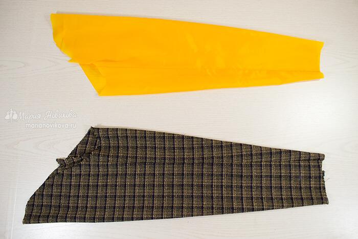 Обработать рукава жакета и подкладки