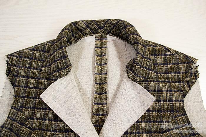 Как сшить женский пиджак с английским воротником
