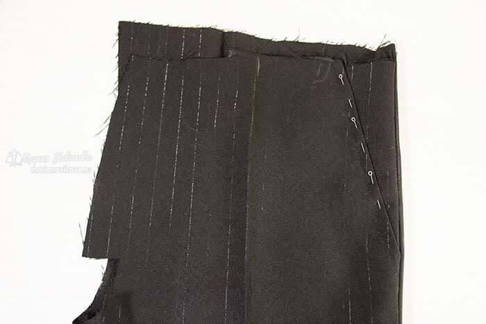 Боковой карман в мужских штанах