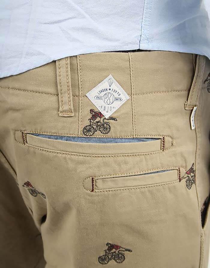 Два задних кармана с листочками