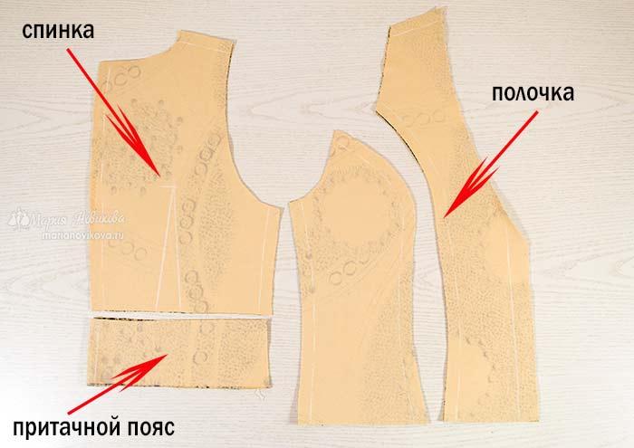 Как сшить жилет: детали кроя