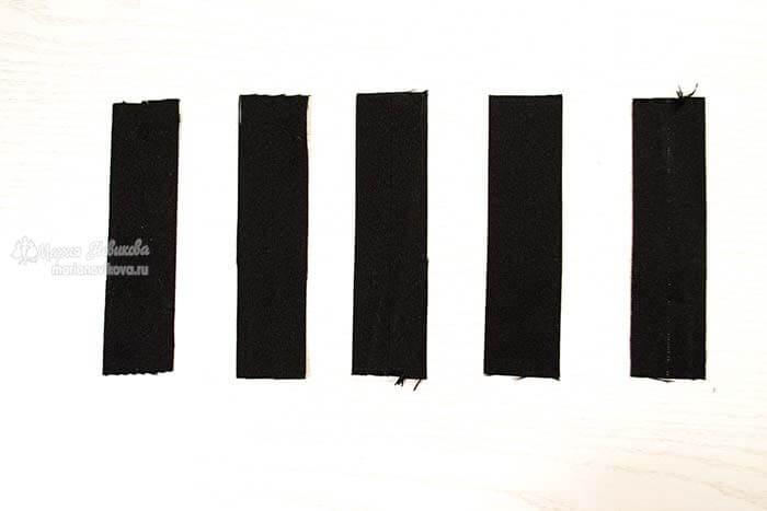 Выкроить шлёвки для пояса