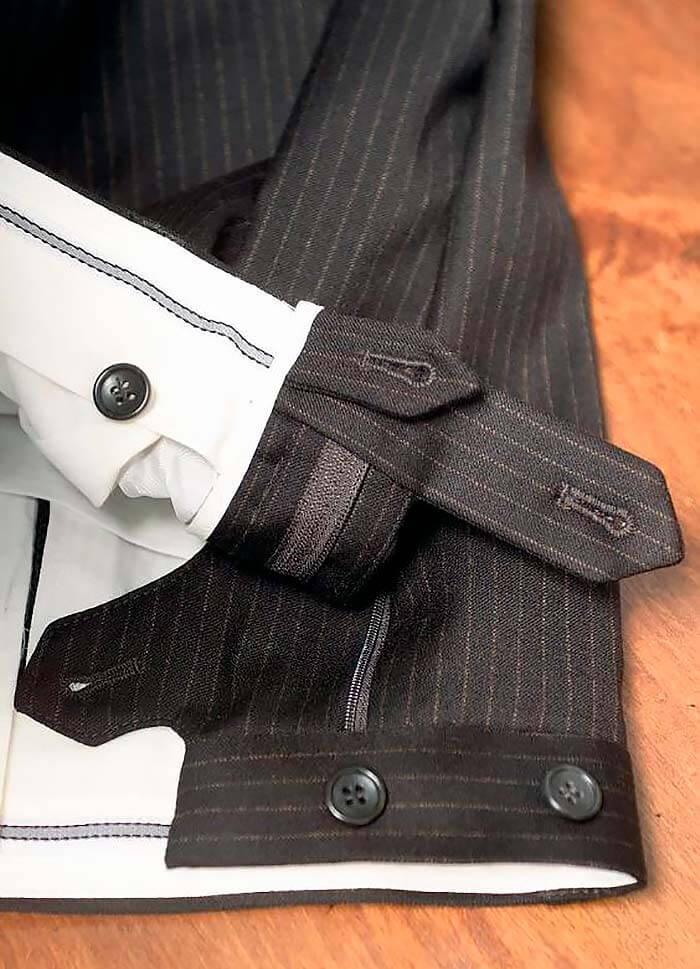 Как обработать застёжку в мужских штанах