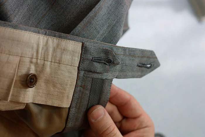Как сшить пояс и гульфик на брюках