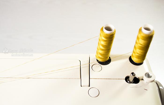 Выбор ниток для отделочных строчек