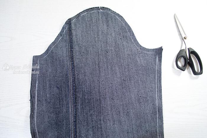 Втачной рукав джинсовки