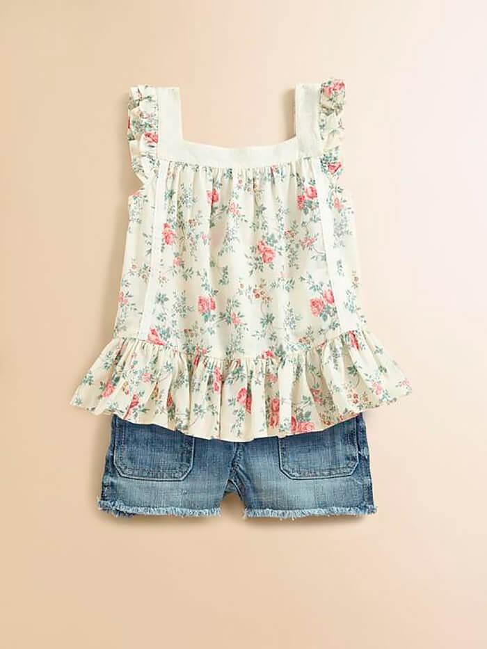 Простая летняя блузка