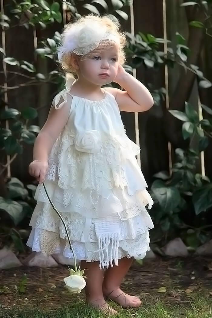 Платье в пол для маленькой девочки