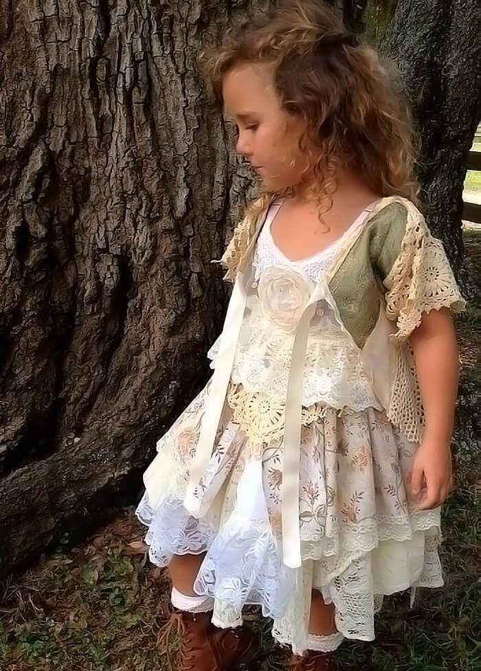 Длинное платье для девочки своими руками