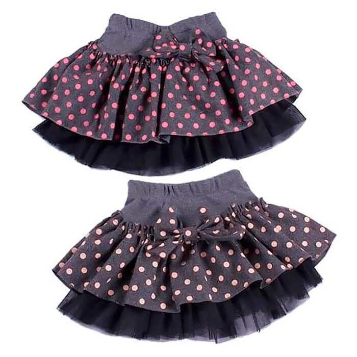 Детская юбка из фатина с кокеткой