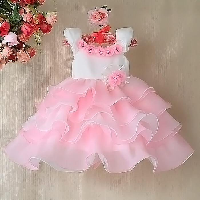 Праздничное платье для девочки на 1 год