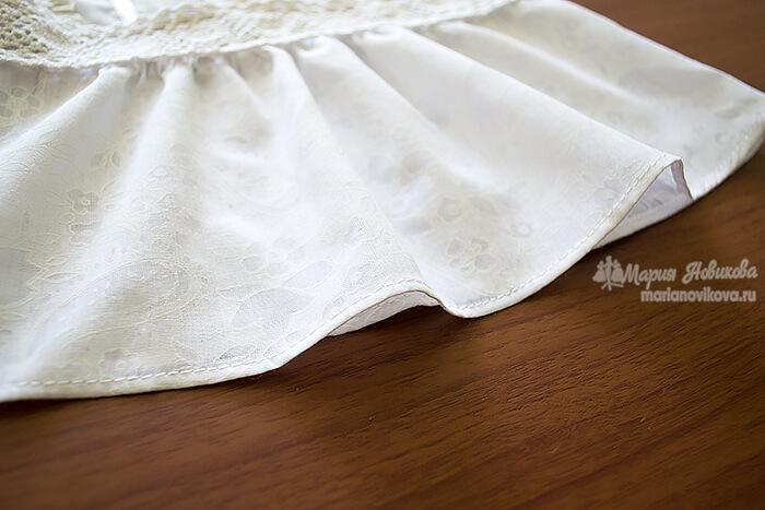 Обработанный низ блузки