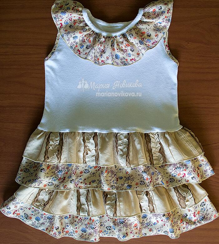 Платье для девочки с оборками