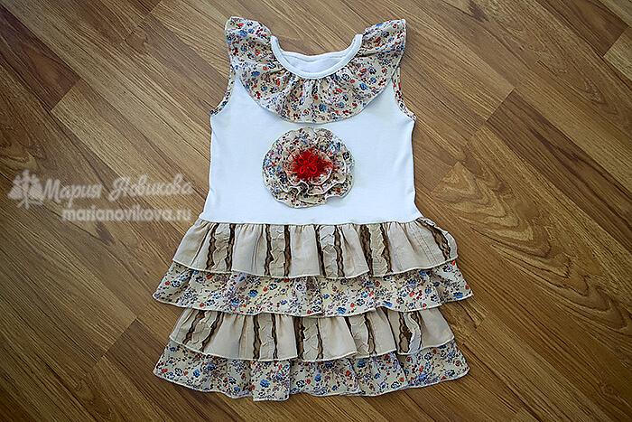 Платье для девочки в стиле бохо