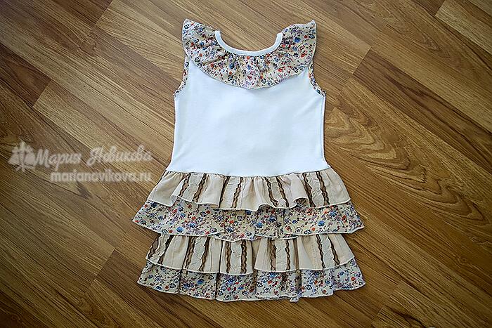 Сшить платье для девочки просто