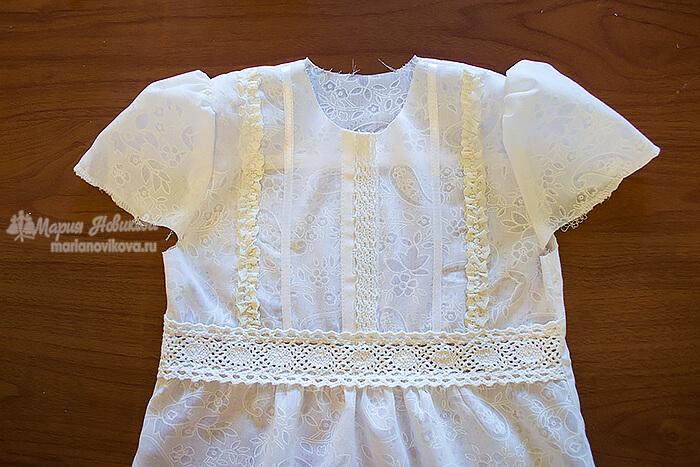 Блузка с фонариками длядевочки