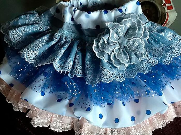 Как сшить детскую юбку с воланами