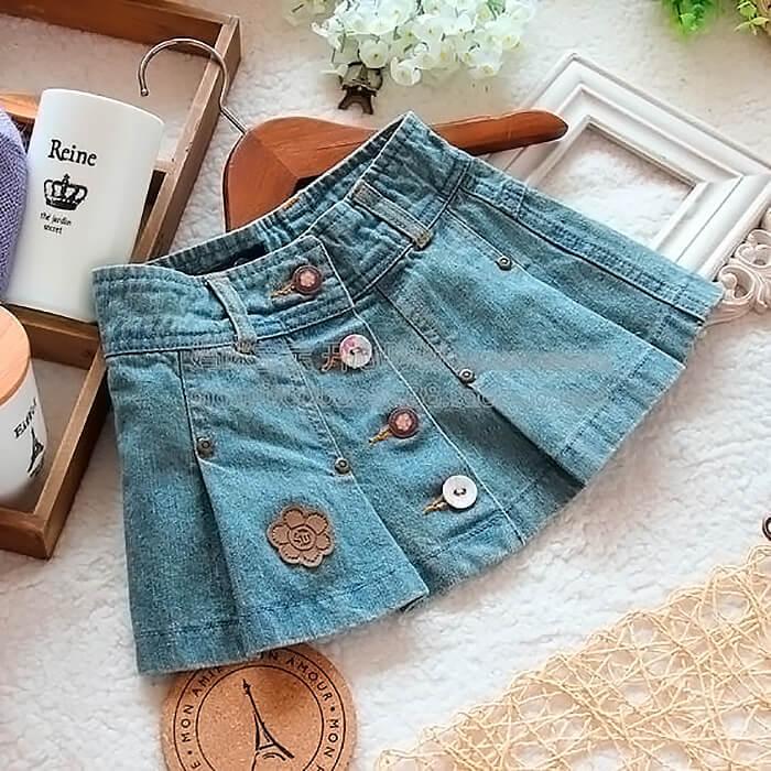 Как сшить простую юбку из старых джинс