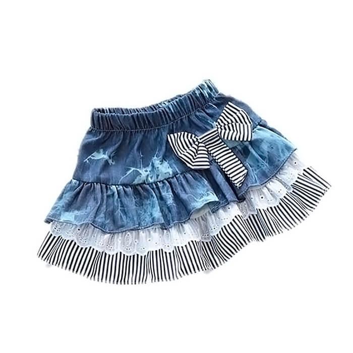 Как сшить юбку с воланами для девочки