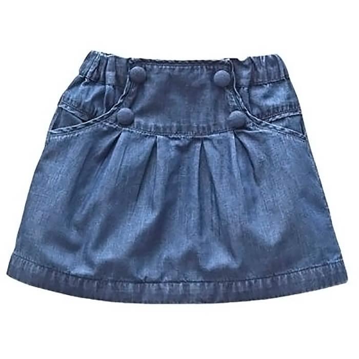Как сшить джинсовую юбку из старых джинс