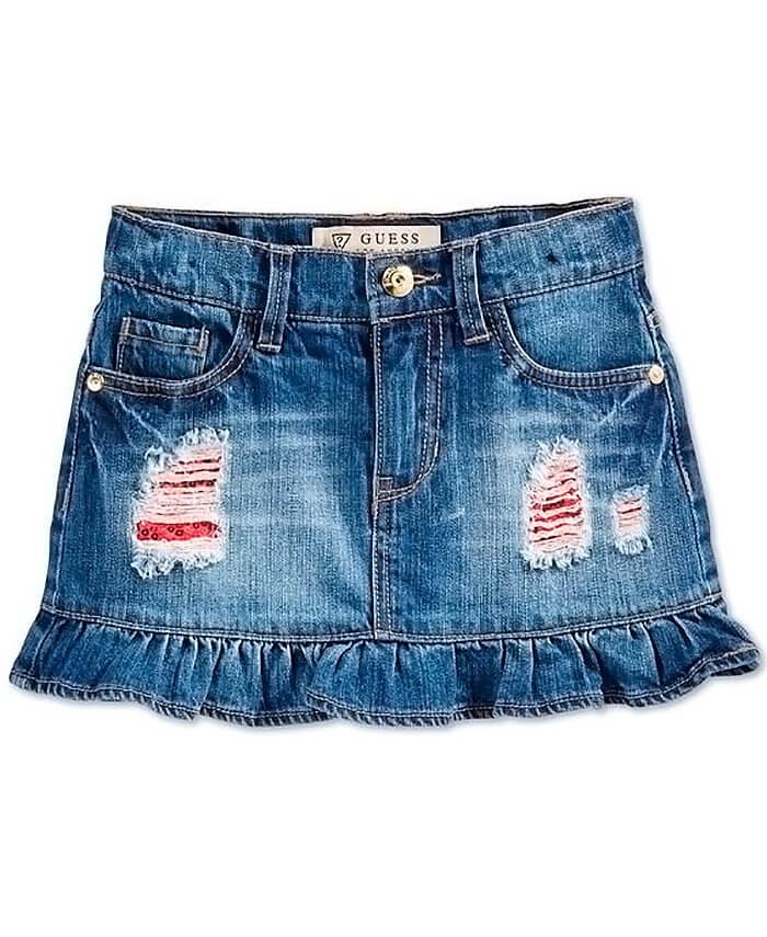 Как сшить юбку из джинс своими руками для девочки