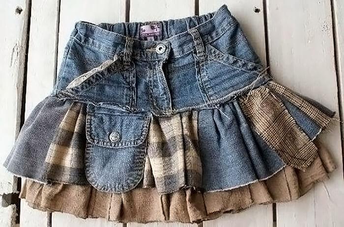 Как сшить юбку на осень для девочки