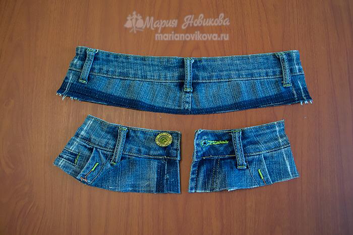Детали кроя джинсовой юбки