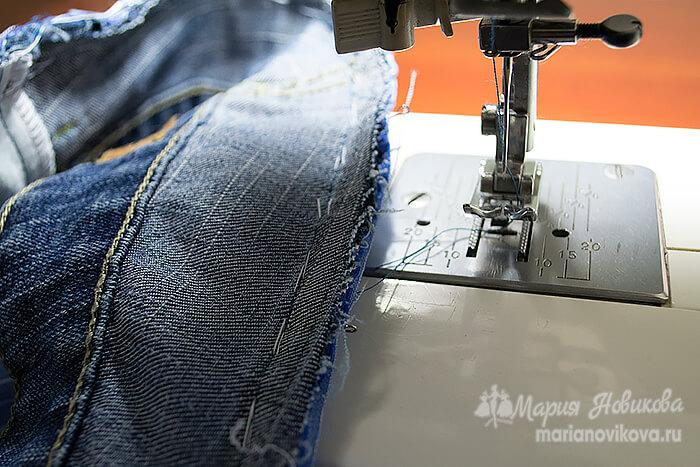 Притачать нижнюю юбку шириной шва 1,5 см