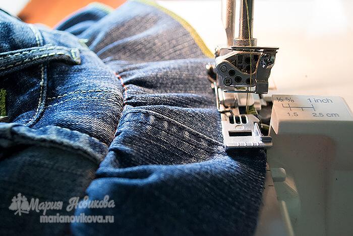 Обработать срез джинсовой оборки