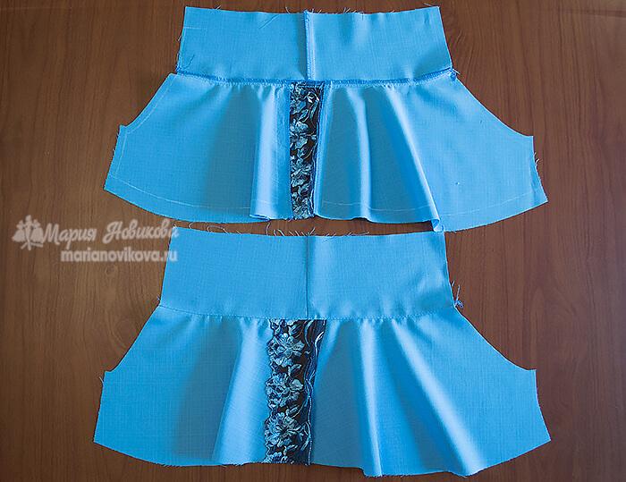 Брючины юбки шортов