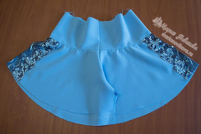 Как сшить юбку шорты для девочки