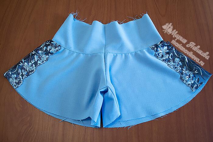 Юбка шорты для девочки сшить легко