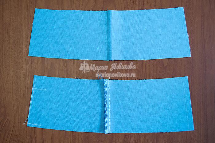 Детали кокетки с обработанными боковыми швами