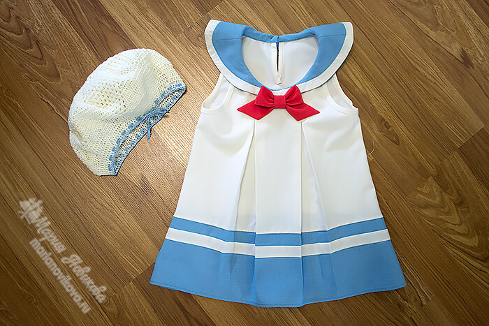 Матросское платье для девочки