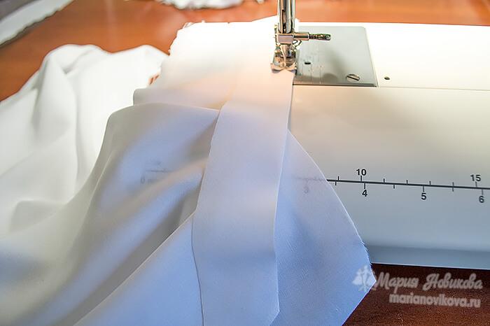 Обработка разрезов косой бейкой